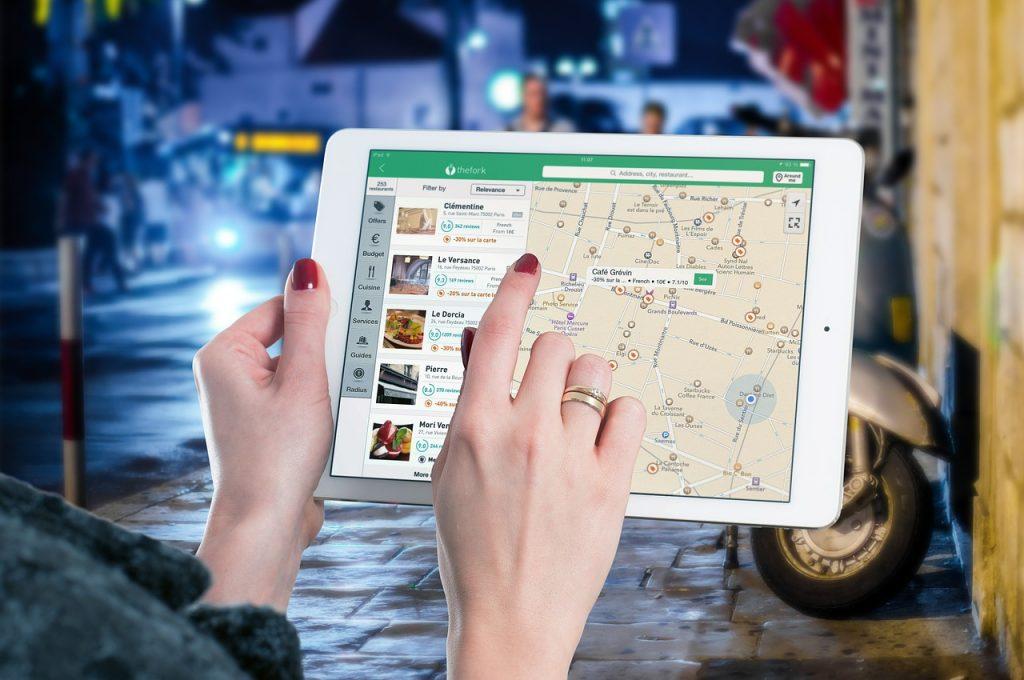 Aplicaciones de viaje restaurantes
