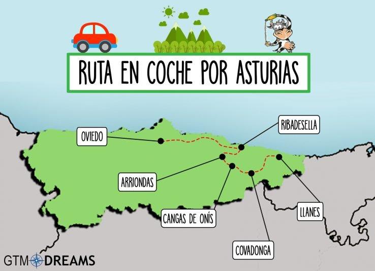 RUTA EN COCHE EN ASTURIAS