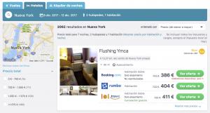 Comparador de hoteles Skyscanner