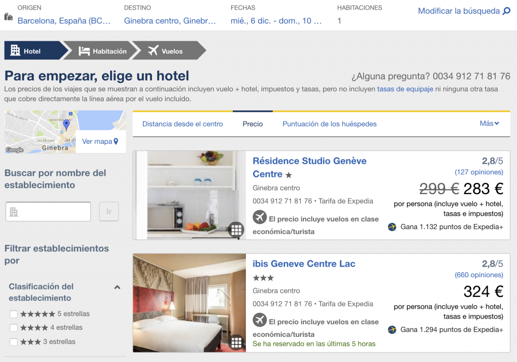 Reserva Vuelo+Hotel