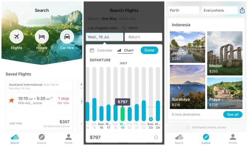 buscadores de vuelos App móvil Skyscanner