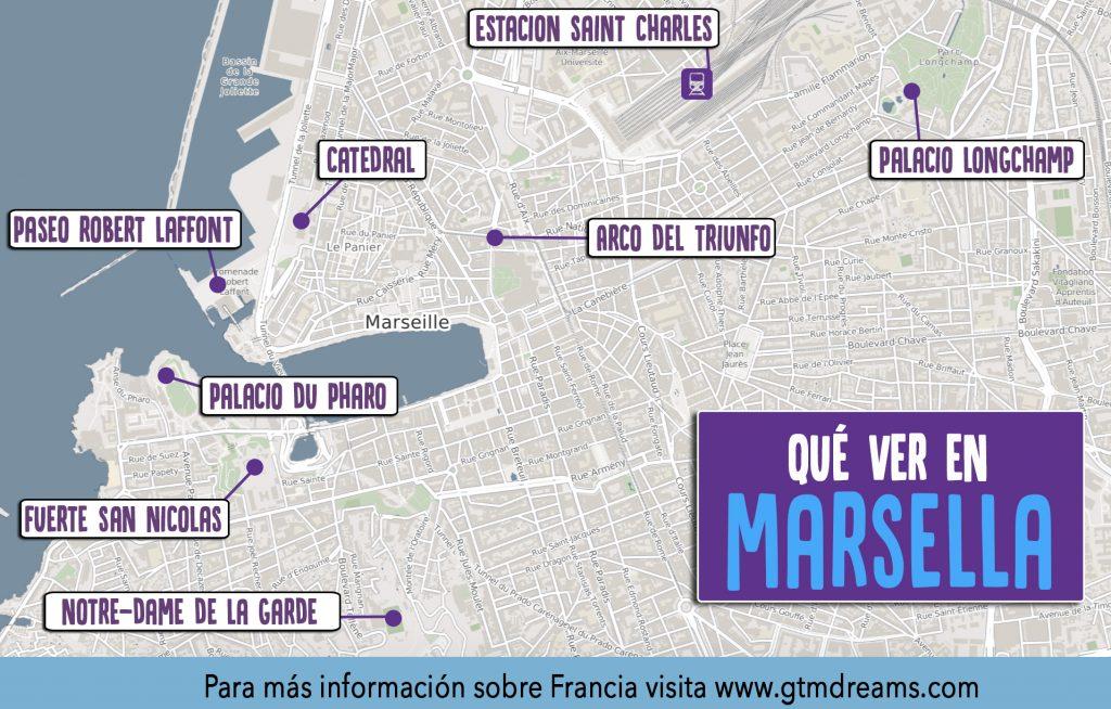 mapa turístico marsella