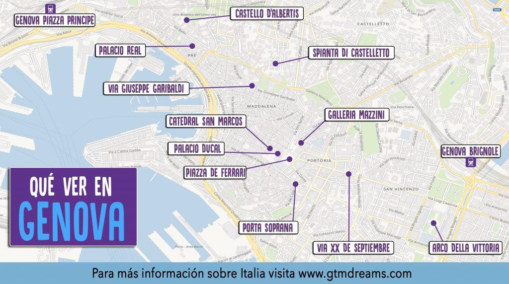 Génova Mapa Turístico