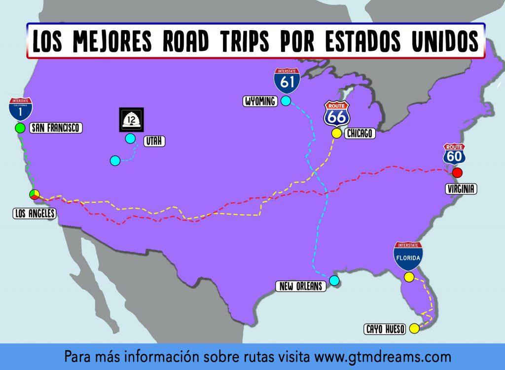 Mejores viajes en coche por Estados Unidos road trip