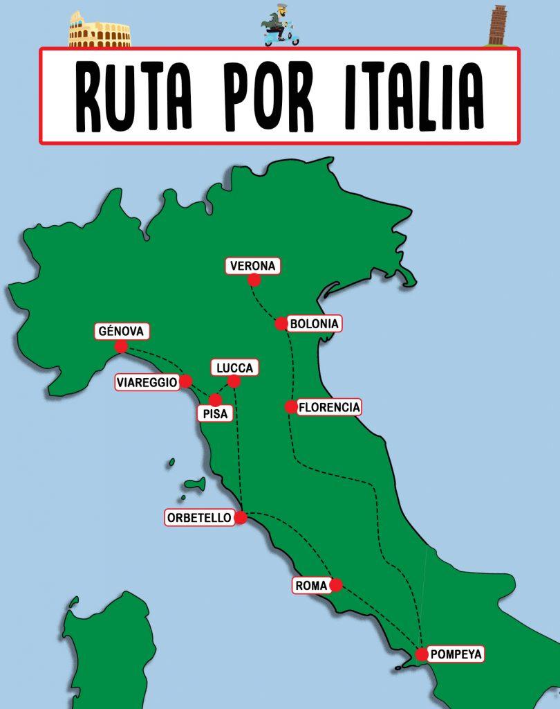 Itinerario de viaje a Italia 1 mes
