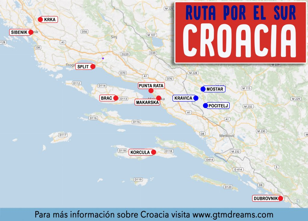 itinerario de viaje a croacia