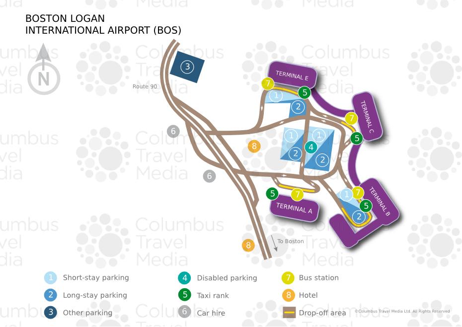 plano del aeropuerto de boston mapa