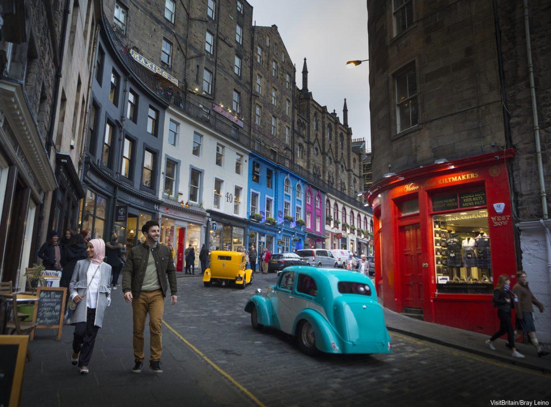 Victoria Street en Edimburgo Escocia