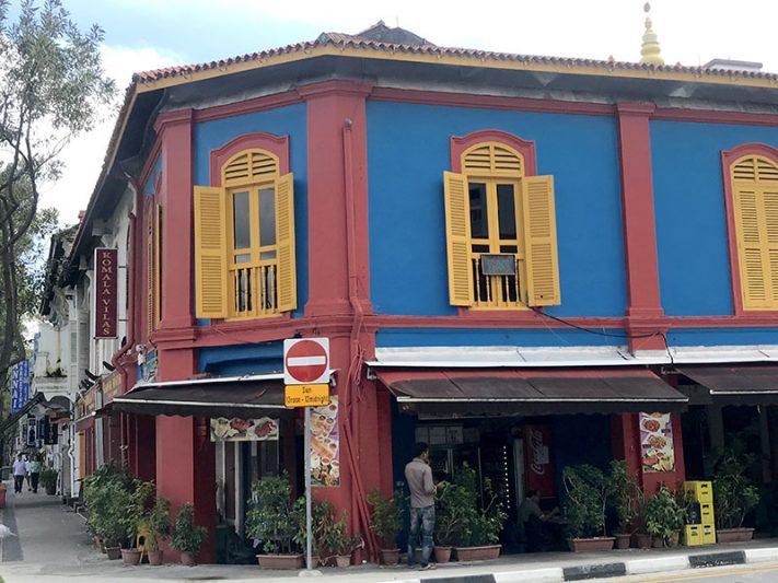 Edificio de Little India en Singapur