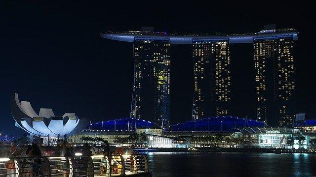 Espectáculo Marina Bay Sands Singapur