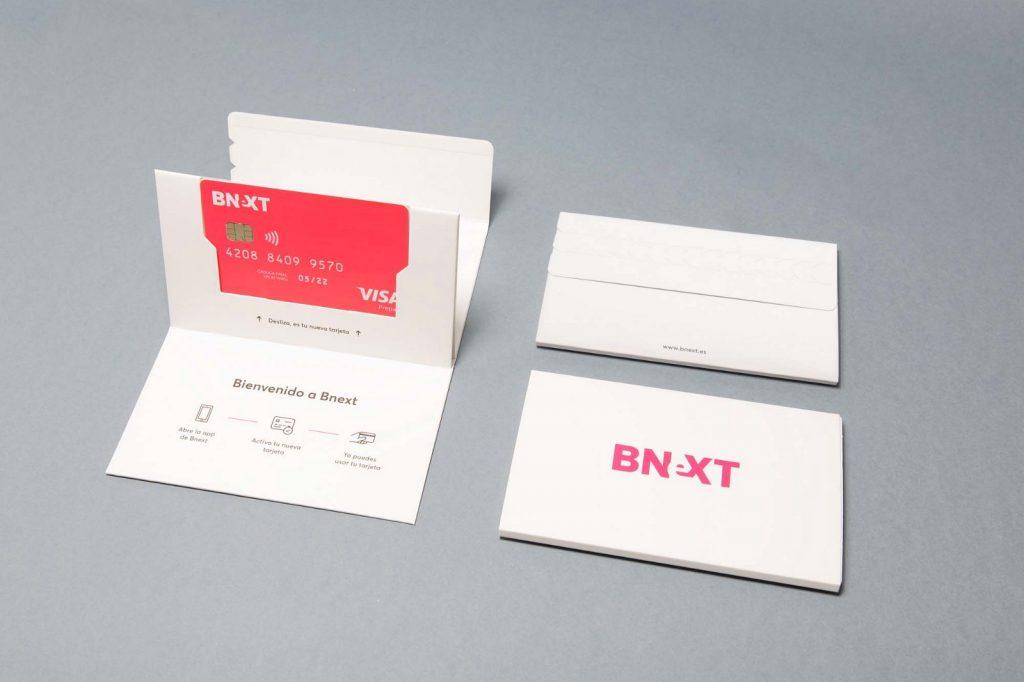 packaging tarjeta bnext