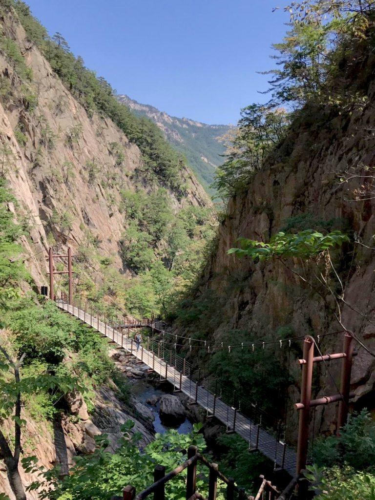 rutas senderismo en parque seoraksan corea del sur
